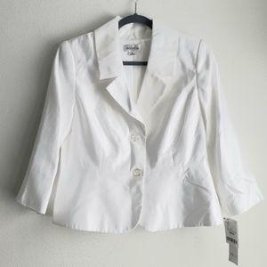 Isabella white blazer